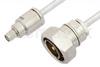 SMA Male to 7/16 DIN Male Cable 12 Inch Length Using PE-SR401FL Coax -- PE36169-12 -Image