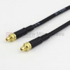 MMCX Plug to MMCX Plug Cable RG174 Coax in 72 Inch -- FMC0909174-72 -Image