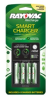 4 Position AA and AAA Smart Charger with Batteries -- PS332-4B -- View Larger Image