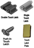 Magnetic Touch Latches and Plates for Glass Doors -- 796073