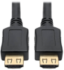High-Speed HDMI Cable, 12 ft., with Gripping Connectors - 4K, M/M, Black -- P568-012-BK-GRP -- View Larger Image