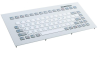 Industrial TKG Panel Mount Keyboard with Silicone Keys and Metal Front Plate -- TKG-083b-MODUL