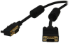 VGA Coaxial High-Resolution Monitor Cable with RGB Coaxial (HD15 M/M), Right-Angle Connector, 2048 x 1536 (1080p), 25 ft. -- P502-025-RA