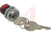 Switch, Keylock; SP; 250VAC; 2A; Keypull POS 1; Solder lug -- 70128594