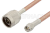 SMA Male to N Male Cable 12 Inch Length Using PE-P195 Coax, RoHS -- PE3318LF-12 -Image