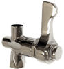 Polished Chrome-plated Brass Lever Handle Valve With Screwdriver Adjustment Stream Control -- 5830LF
