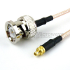 BNC Male to MMCX Plug Cable RG-316 Coax in 12 Inch and RoHS -- FMC0809315LF-12 -Image