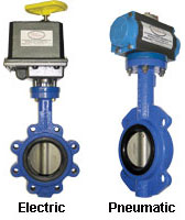 Electric and Pneumatic Butterfly Valves image