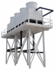 Fiberglass Counterflow Evaporative Cooling Tower -- FGCT Series - Image