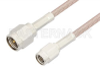 SMA Male to SSMA Male Cable 18 Inch Length Using RG316 Coax, RoHS -- PE3669LF-18 -Image