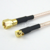 SMC Plug to RA MMCX Plug Cable RG-316 Coax in 36 Inch and RoHS -- FMC1819316LF-36 -Image