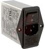 EMI POWER LINE FILTER, MULTI FUNCTION MODULE, W/IEC CONN, DBL FUSEHOLDR, W/VOLTG -- 70133401 - Image