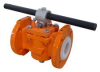"Plug Valves -- 1"" 031-Class 150 Lined 3-Way -- View Larger Image"