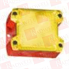 PFANNENBERG 21510103000 ( COMPACT FLASHING XENON STROBE BEACON, 1 HZ, 5 JOULES, 187 - 255 VAC, RED HOUSING, YELLOW LENS ) -Image