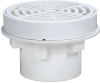 All PVC Area Drain w/7 in. Round Fixed Top -- FD-660 -- View Larger Image