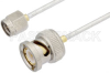 SMA Male to BNC Male Cable 48 Inch Length Using PE-SR405FL Coax -- PE35109-48 -Image