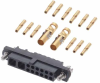 12+2 Pos. Female 24-28AWG+12AWG Cable Conn. Kit, Jackscrews -- M80-4C11205F1-02-325-00-000 - Image