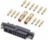 12+2 Pos. Female 24-28AWG+12AWG Cable Conn. Kit, Jackscrews -- M80-4C11205F1-02-325-00-000 -- View Larger Image