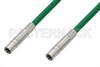 75 Ohm Mini SMB Plug to 75 Ohm Mini SMB Plug Cable 24 Inch Length Using 75 Ohm PE-B159-GR Green Coax -- PE38139/GR-24 -Image
