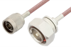 N Male to 7/16 DIN Male Cable 48 Inch Length Using RG142 Coax, RoHS -- PE3216LF-48 -Image