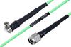 Temperature Conditioned SMA Male Right Angle to TNC Male Low Loss Cable 100 cm Length Using PE-P160LL Coax -- PE3M0198-100CM -Image