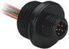 AC Micro (Dual Key) Receptacle -- 888R-M6AC1-1F - Image