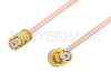 SMP Female to SMP Female Right Angle Cable 12 Inch Length Using PE-047SR Coax -- PE36154-12 -Image