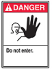 ANSI Safety Sign, Danger - Do Not Enter, 10