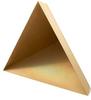 4.3 inch Edge Length, Trihedral Corner Reflector, ¼-20 Threaded Hole Mount, Aluminum Body, Gold Chem Film Finish -- PEWRL0004 -Image