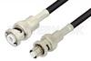 MHV Male to SHV Plug Cable 12 Inch Length Using RG58 Coax -- PE3950-12 -Image