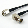 SMA Male to RA SMA Male Cable RG-174 Coax in 36 Inch and RoHS Compliant -- FMC0204174LF-36 -Image
