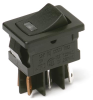 Miniature Illuminated Power Rocker Switches -- DM Illuminated Series