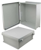 16x14x6 Inch UL® Listed Weatherproof Industrial NEMA 4X Enclosure Only with Non-Metallic Hinges -- NBN161406 -Image