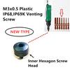 100PCS M3x0.5-4.5 inner hexagon Plastic Venting Screw