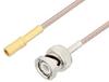 SSMB Plug to BNC Male Cable 12 Inch Length Using RG316 Coax , LF Solder -- PE3C3408LF-12 -Image