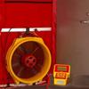Q46 Digital Cloth Door Fan System w/Automatic Control -- REDFQ46120V
