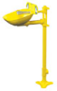 S19214EW - Bradley HALO Eyewash, Pedestal mount, ABS plastic -- GO-86001-22 -- View Larger Image
