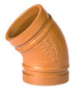 Cast 45°, Grooved Elbow