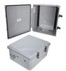 14x12x06 Polycarbonate Weatherproof Outdoor NEMA 4X Enclosure, DIN Rail Mount Dark Gray -- NBPC141206-000DR -Image