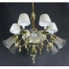 12 Light Gas Electric Chandelier -- B217WS - Image