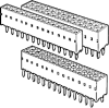 Board and Wire Connectors, 2.54 mm (0.100 in.), PCB Receptacles, Number of contacts (per row)=45 -- 76341-445LF