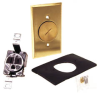Brass Plate & Receptacle for Display Floor Applications -- 5236