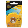Super Sticky Removable Label Roll, 1 x 700, Yellow -- 2600-Y