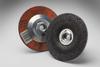 3M Aluminum Oxide Depressed-Center Wheel - 24 Grit Very Coarse Grade - 4 1/2 in Diameter - Thickness 1/4 in - 92314 -- 051135-92314 - Image