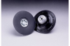 3M 14201 Medium Black Roloc TP Disc Pad - 3 in DIA - 1/4 - 20 Internal Thread Attachment -- 051144-14201 -- View Larger Image