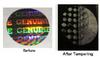 Holographic Tamper Evident Label with Circle Destruct