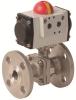 Pneumatically Actuated Stainless Steel Valve -- PHS FL - AP  Series - Image