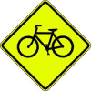 Traffic Sign,24 x 24In,BK/FLUOR YEL,SYM -- 6AHT6