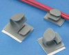 Cable Clip, Latching Adhesive Telco Gray Nylon -- 07498327223-1