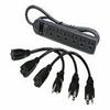 Cables to Go 2706X - Surge suppressor - AC 125 V - 6 output -- 39995